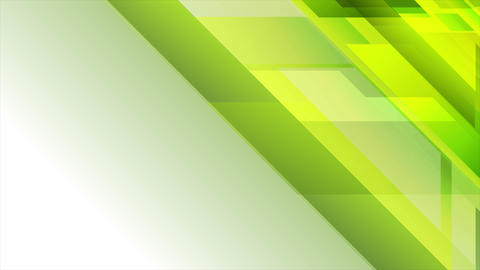 Bright green geometric technology video animation Animación