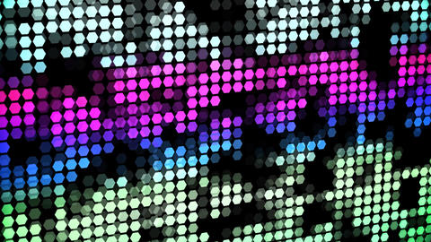 Colorful Glowing Neon Hexagons Abstract Motion Background VJ Loop Animation
