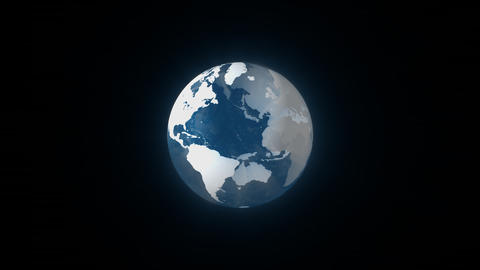 Earth Transparent Loop Animación
