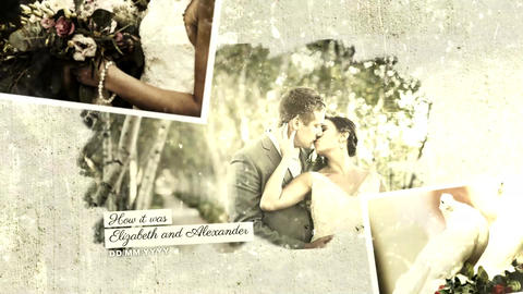 Vintage Wedding Slideshow After Effects Template