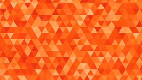 Abstract background loop of orange triangles in a geometric pixelated mosaic til Animation