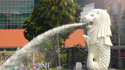 Singapore Merlion fountain Archivo