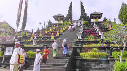 The main entrance of Besakih Temple,Bali Footage