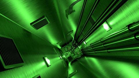Elevator shaft lift shaft bunker vault safe nuclear machinery 4k Footage
