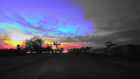 Dark side of road in UA Footage
