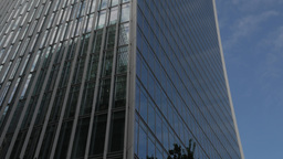 Tilt down the side of 20 Fenchurch Street, the skyscraper known as the Walkie Ta Footage