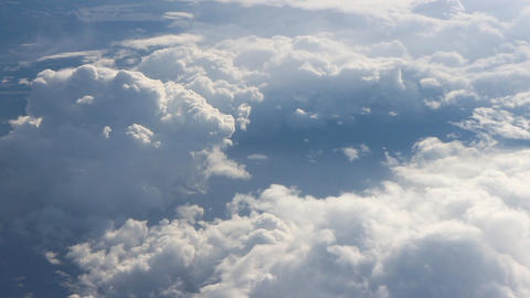 Under the wing 3. View on clouds from above Footage