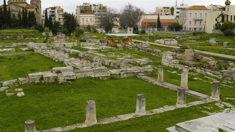 Athens Ancient City Ruins Footage