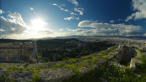 Beautiful Skyline of Greece Footage