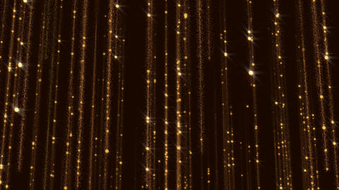 Golden Glitter Flicker Gorgeous Background Animated Particles Wall Animation