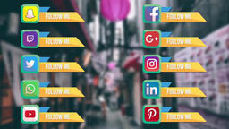 Social Geometric Links Motion Graphics Template