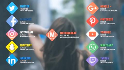 Social Links Motion Graphics Template