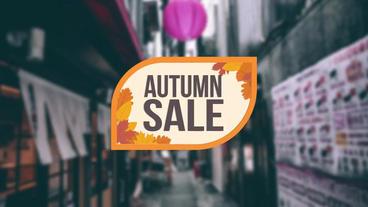 Autumn Sales Offer モーショングラフィックステンプレート