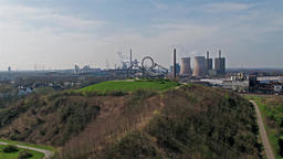 Duisburg, Germany - March 24 2017 : Landmark Tiger and Turtle standing on a hill Footage