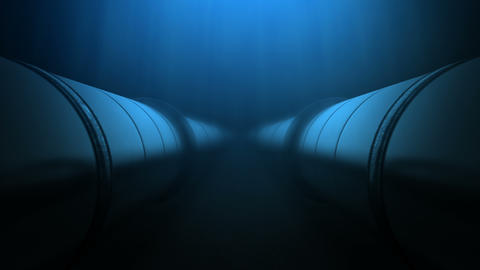 Two oil pipes under water loop Image