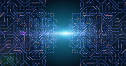 futuristic circuit pattern abstract background footage Stock Video Footage