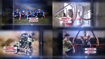 Cinematic Sports Slide Show After Effects Template