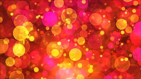 Yellow Pink Bokeh Backround Loop Animation