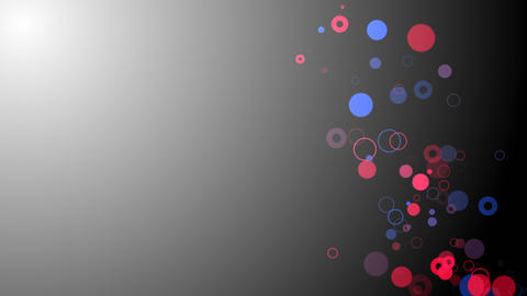 Circles Ribbon on Light Background Loop Animation