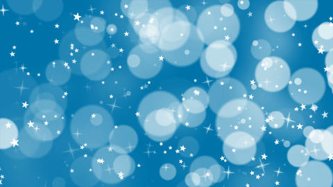 Blue Background with Stars and Sparkles Loop Animation
