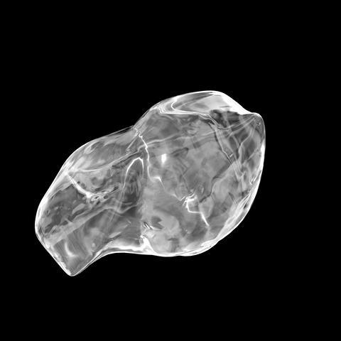 回転する氷/ループ/マスクあり/ CG動画素材