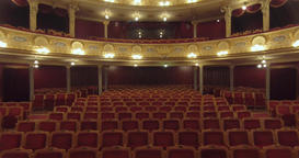 Flying inside the Opera. Lviv CITY OPERA Theater, UKRAINE, - November 27, 2017 Footage