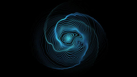 Abstract Blue Space Waves Loop Animation