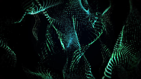 Green Glowing Particles Background Animation