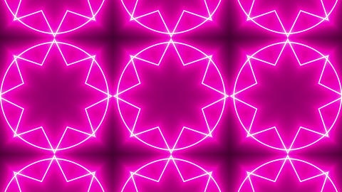 Pink Neon Kaleidoscope Background Stock Video Footage