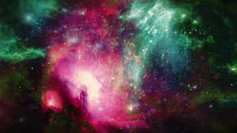 Space Galaxy Background Stock Video Footage
