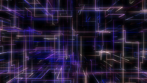 Abstract Matrix Network Grid Technology Abstract Background Animation
