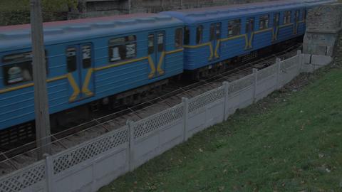 The Old Subway Train Image