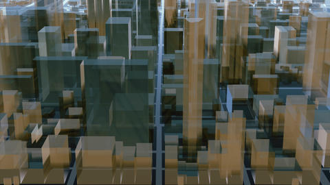 Abstract 3D city downtown architectural background CG動画素材