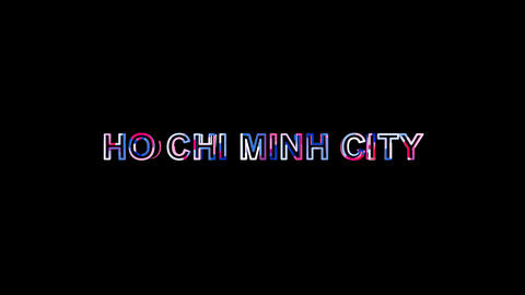 Letters are collected in Big city HO CHI MINH CITY, then scattered into strips Animation