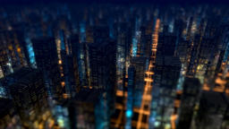 Night City Buildings Background Animation
