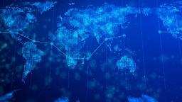 Digital World Map Background 02 Image