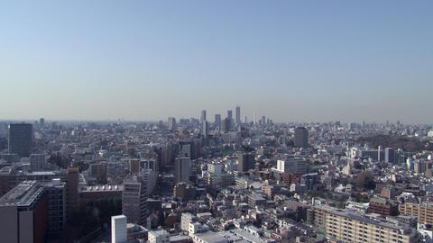 tokyo wideshot blue sky Footage
