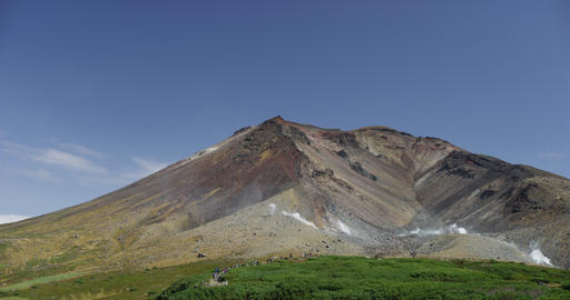 4K Hokkaido Asahi Mountains 北海道大雪山 旭岳 GIF