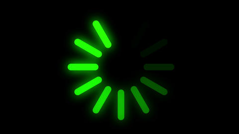 Circle Green Loading Bars Animation Animation