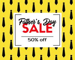 Father's day sale. Vector discount template ベクター