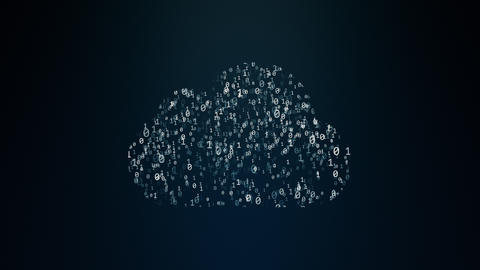 Cloud computing conception Animation