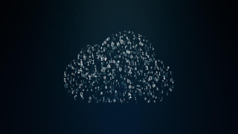 Cloud computing conception Stock Video Footage