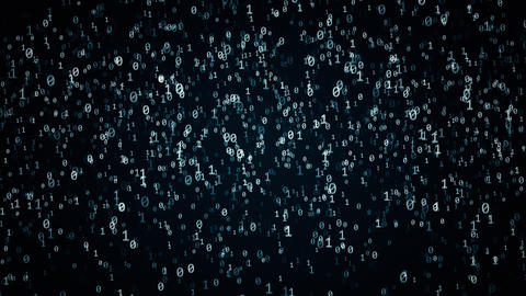 Binary code, computer technology conception Animation