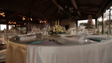 beautiful serving exquisite wedding table Live Action