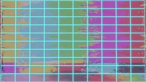 Vaporwave Color Bars Glitch Retro Background Animation