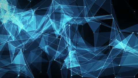 Abstract Motion Background - Digital Plexus Polygon Data Networks Animation