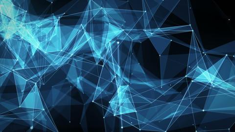 Abstract Motion Background - Digital Plexus Polygon Data Networks 애니메이션
