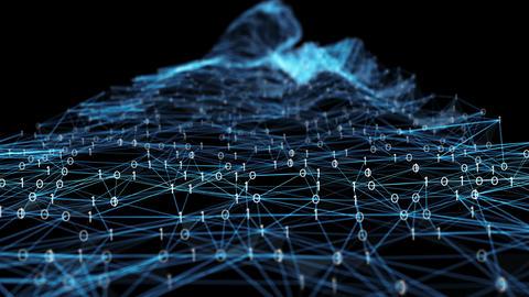 Abstract Motion - Digital Binary Polygon Plexus Data Networks Alpha Matte 애니메이션
