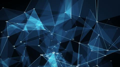 Abstract Motion Background - Digital Polygon Random... Stock Video Footage