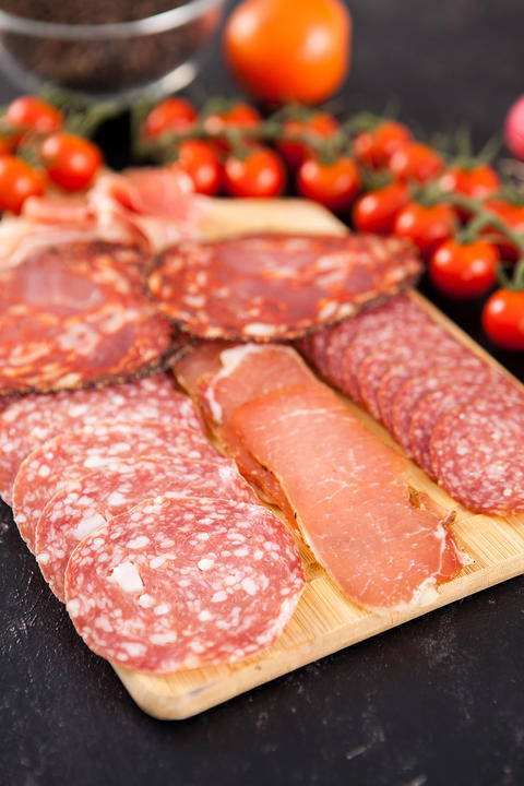 Delicious and healthy meat appetizers Photo